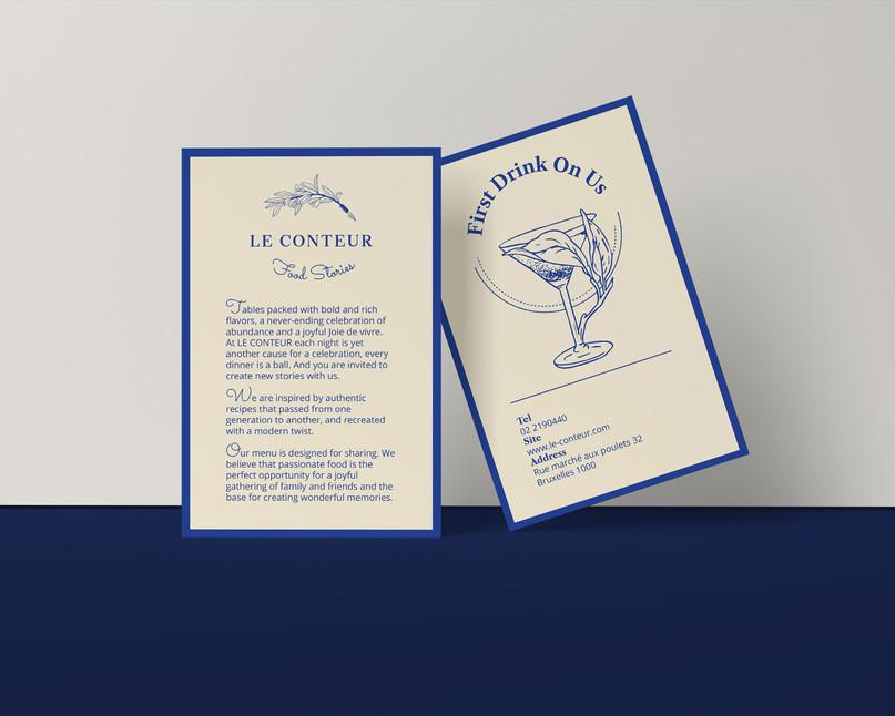 Le Conteur Restaurant Postcards