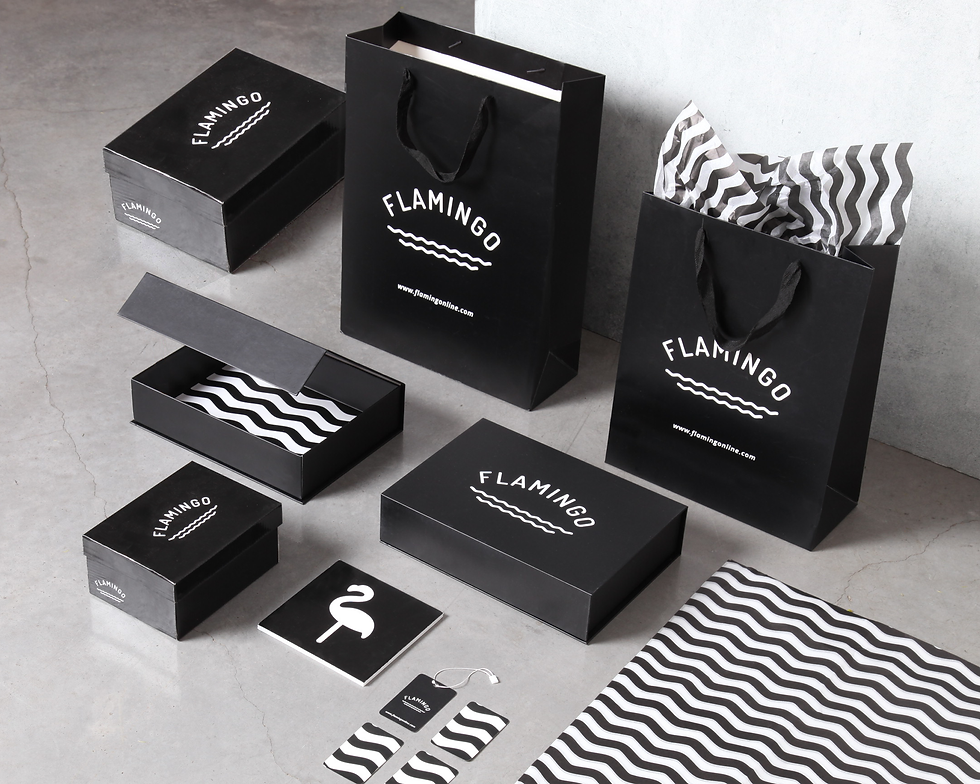 Flamingo kids branding by useless treasures