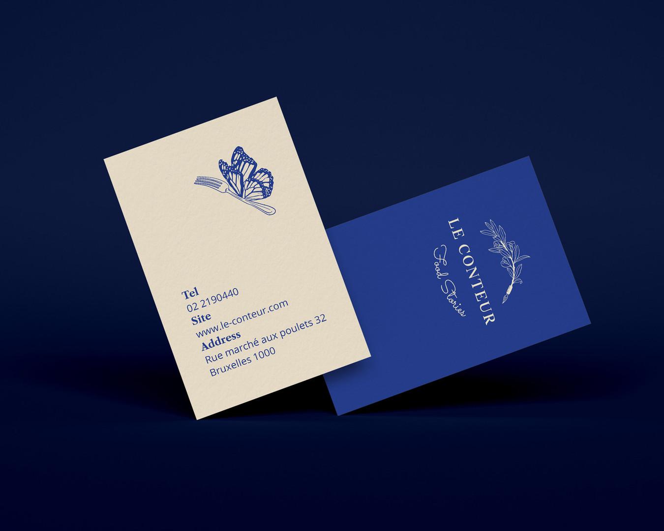 Le Conteur Restaurant Business Cards