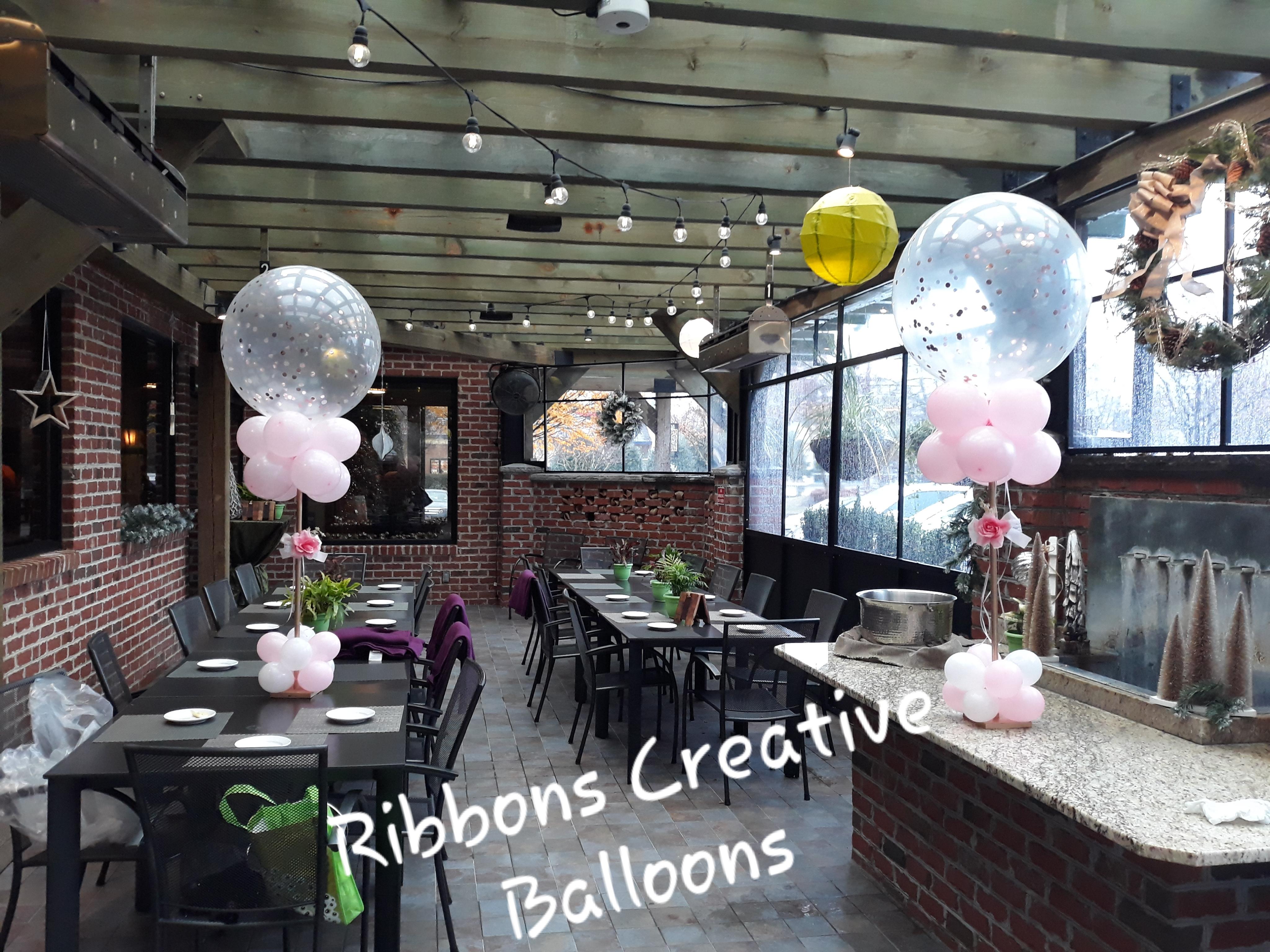 Confetti /Jumbo Balloon Centerpiece
