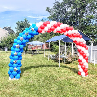 10 ft - American Flag Arch