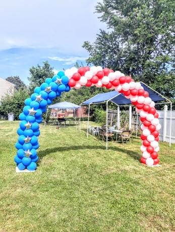 American Flag Arch