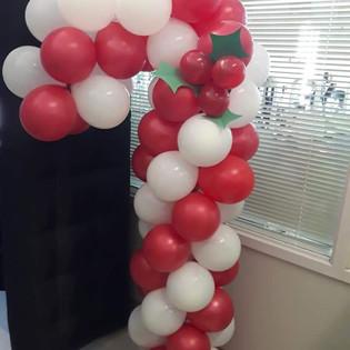 Candy Cane Balloon Column