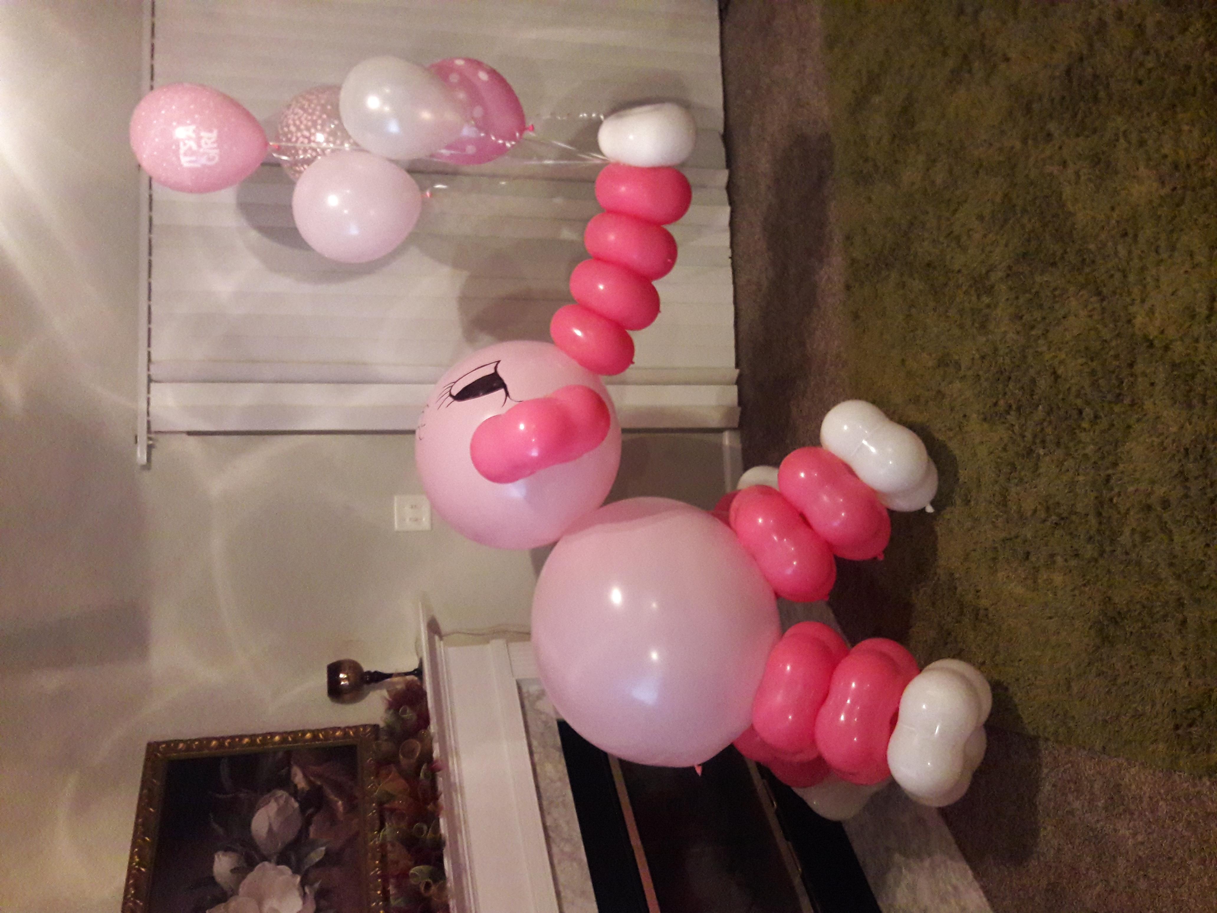 Jumbo Elephant w/ Helium Balloons