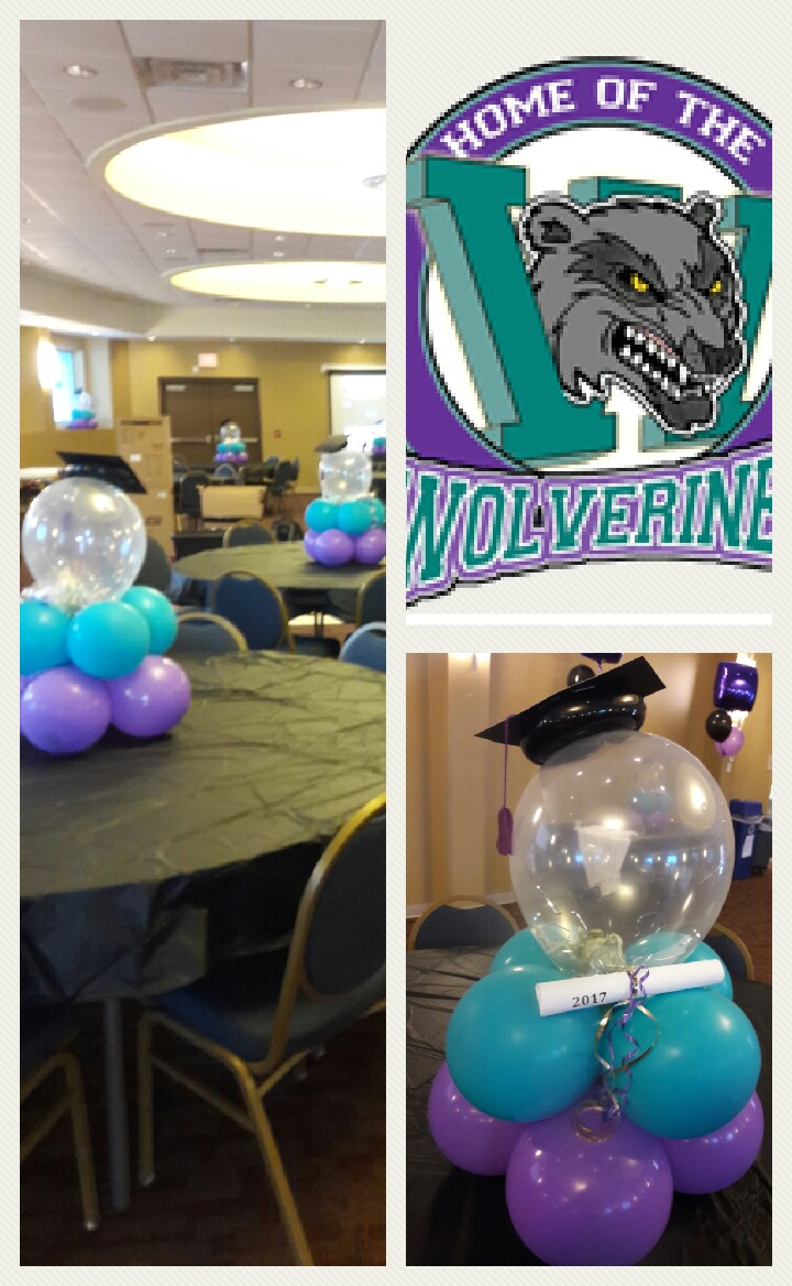 Grad Center Pieces