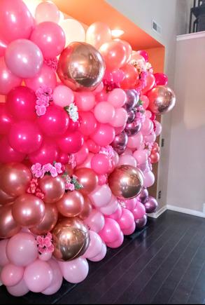 Shade of Pink Balloon Wall