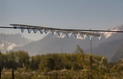 Le gel dans le Chablais