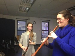Trying Baroque instruments!