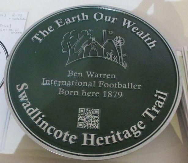Swadlincote Heritage Trail Plaque
