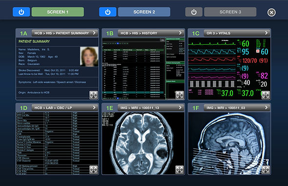 Medical device user interface; information screen
