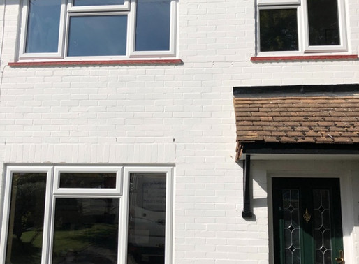 Upvc casement Windows A-rated and in laminated glass for noise reduction#sundridge#sevenoaks