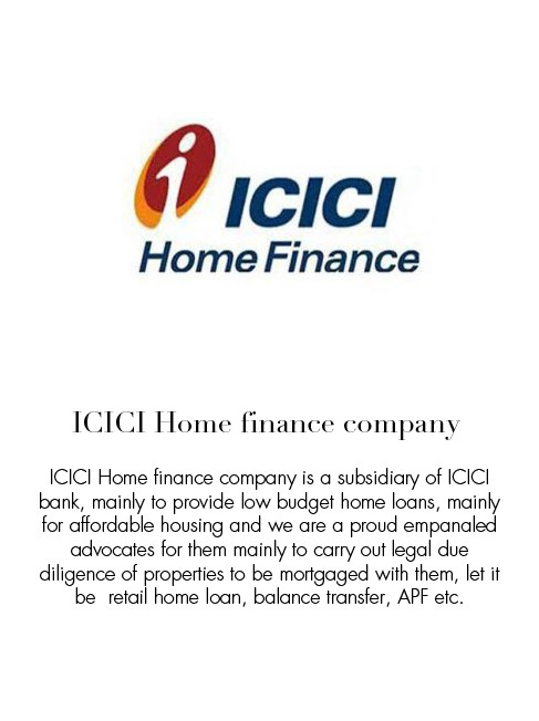 ICICI home finance