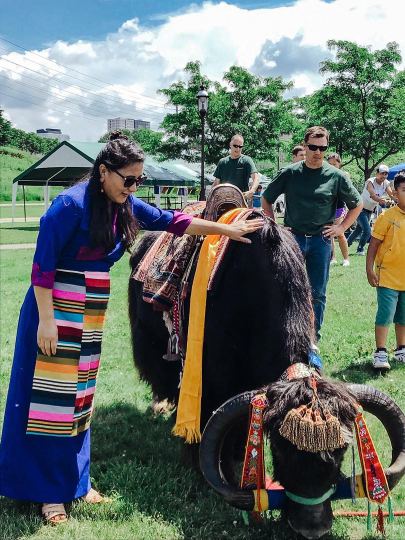 Jericho at the Dalai Lamas 84th Birthday Celebration on July 6 , 2019 at Boom Island Park, Minneapolis, MN.