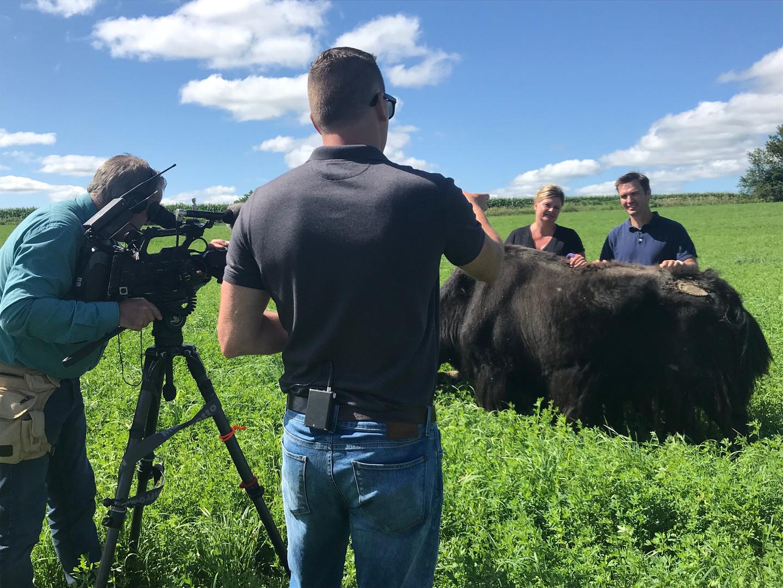 "WCCO's John Lauritsen and Joe Berglove for ""Finding Minnesota."""