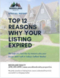 Top reasons why my listing expired