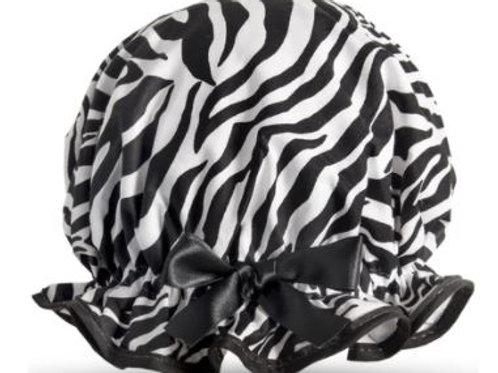 DILLY DAYDREAM ZEBRA SHOWER CAP