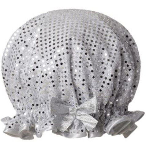 DILLY DAYDREAM SPARKLE SILVER SHOWER CAP