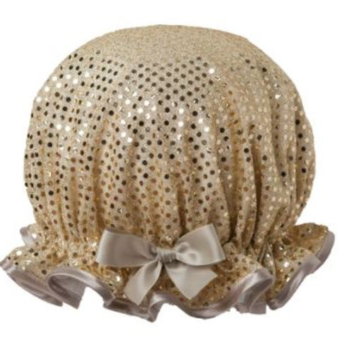 DILLY DAYDREAM SPARKLE GOLD SHOWER CAP