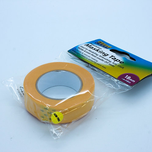 18mm X 18m SINGLE PACK MASKING TAPE