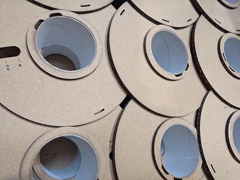 OEM 3DQF Cardboard spool waiting for 3d printing filament uk made .jpg