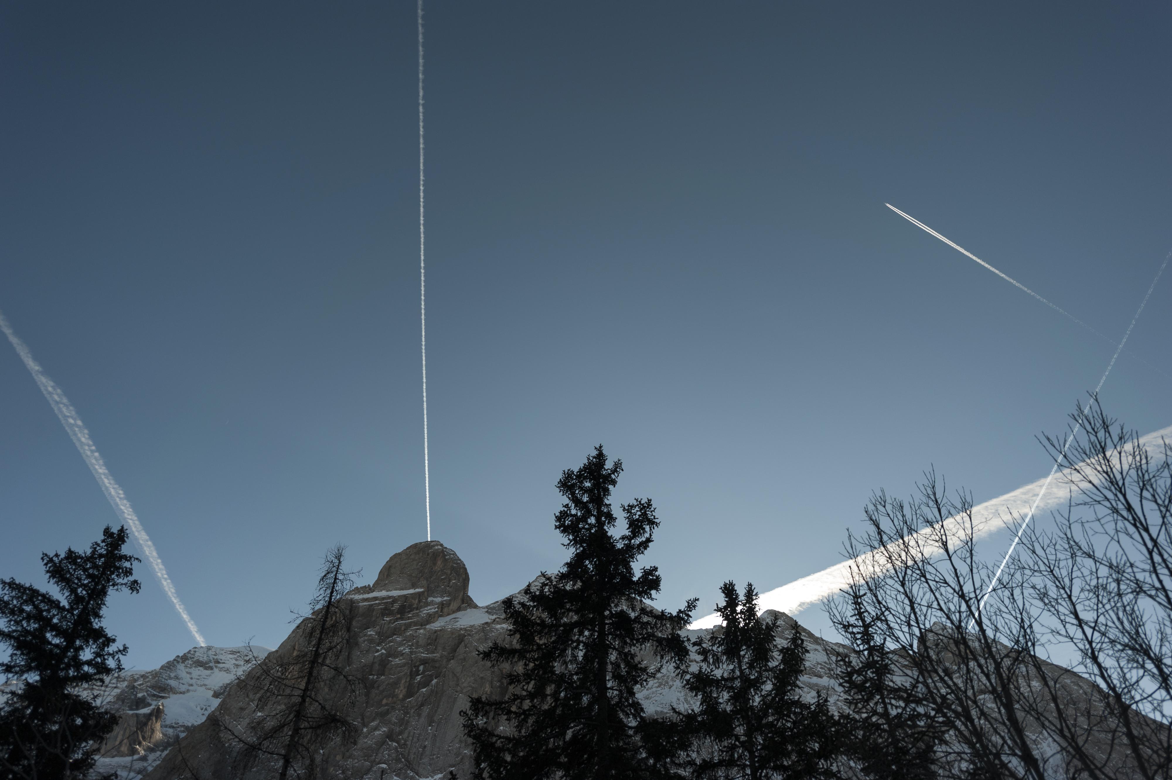 Himmlischer Verkehr in den Dolomiten