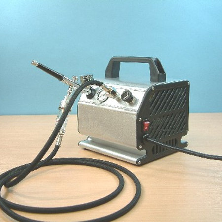 Dual Action Airbrush & Compressor with Water Trap
