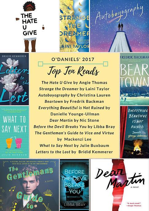 O'Daniels' 2017 Top 10