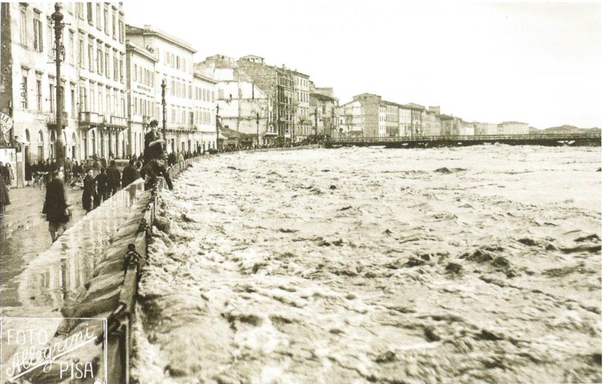 L'Arno in piena 4 febbraio 1947