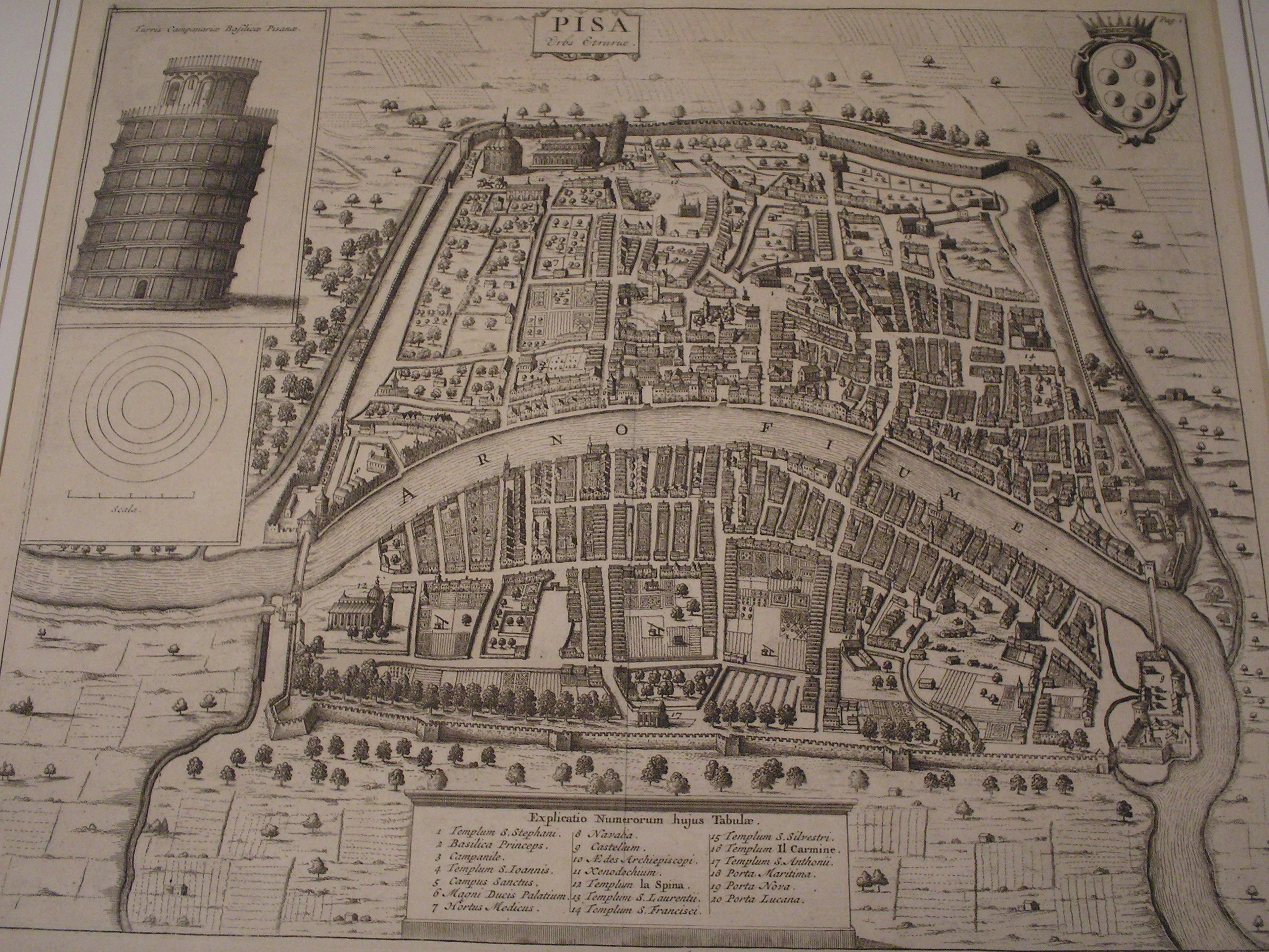 Pianta di Pisa
