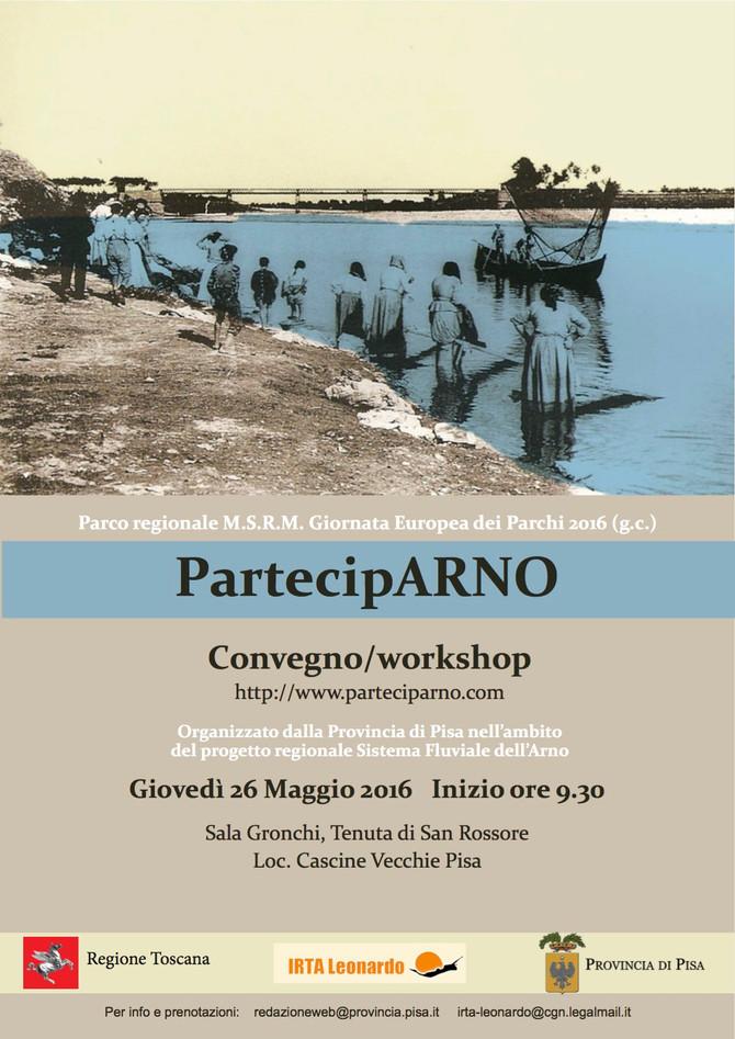 PartecipARNO, il 26 maggio il workshop finale a San Rossore