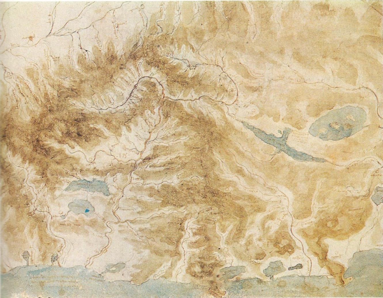 Leonardo Da Vinci, Planimetria idrografica del bacino dell'Arno