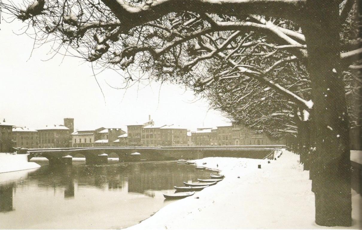 Veduta del Lungarno coperto di neve, 12-14 febbraio 1929