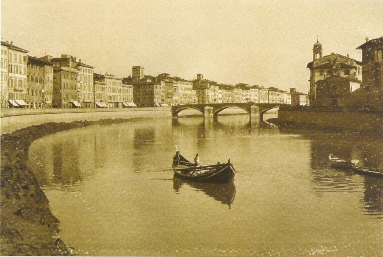 Ponte di Mezzo e Lungarno Gambacorti, 1908