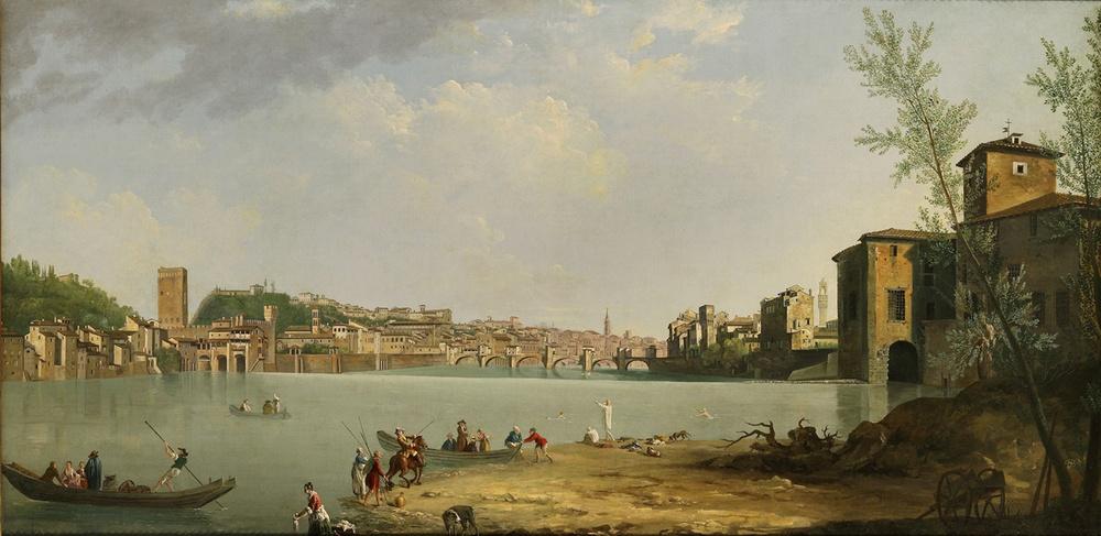Veduta dell'Arno Ponte alle Grazie