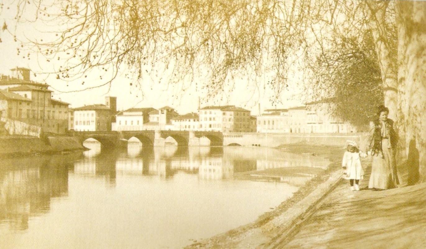Il Ponte della Fortezza, Pisa, 1908