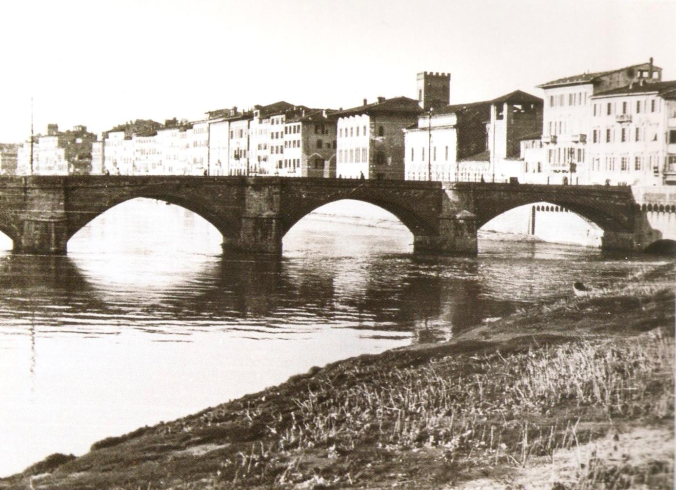 Il Ponte della Fortezza a Pisa, 1930