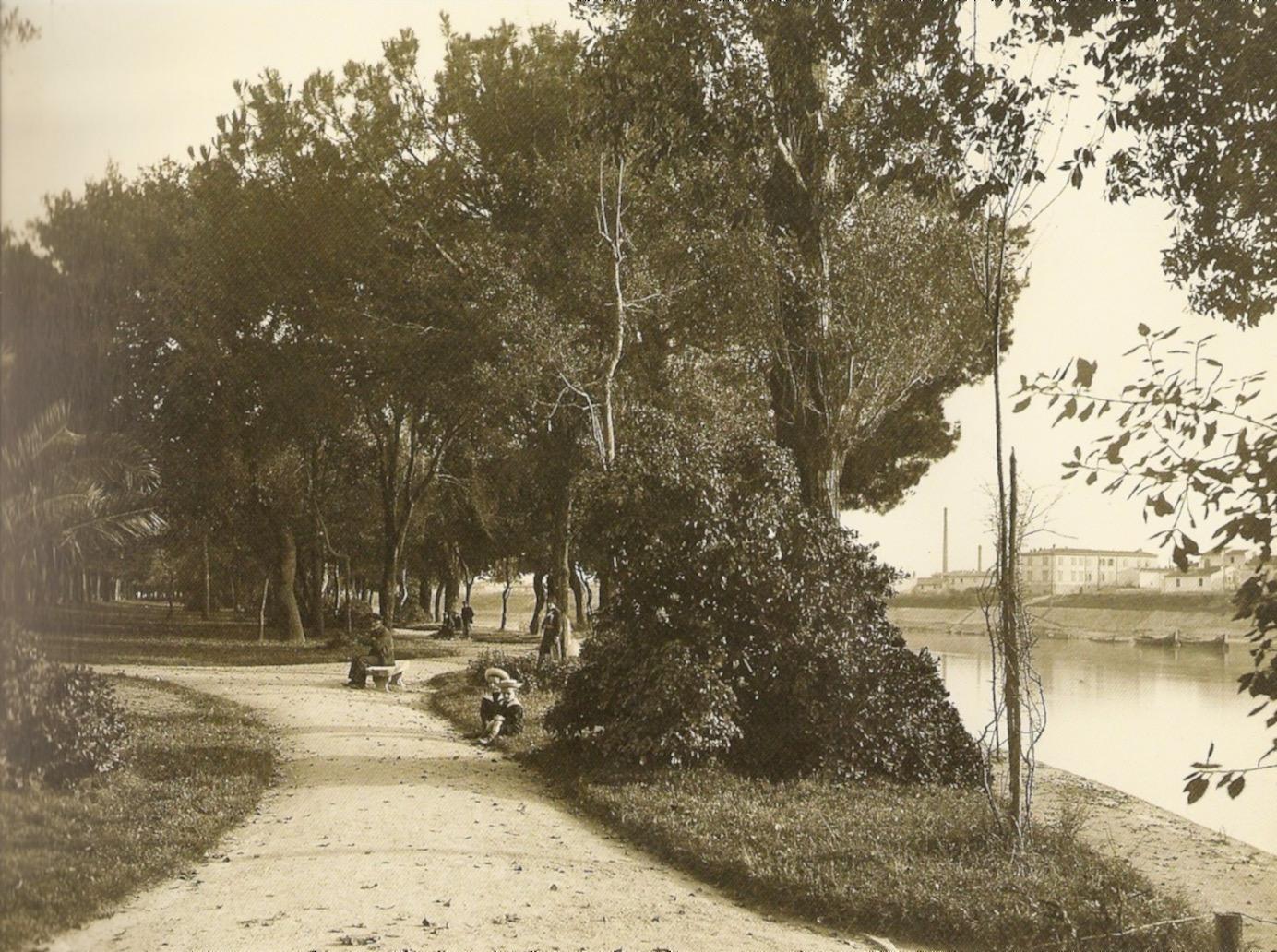 Pisa, Giardini del viale Umberto I, 1920 ca