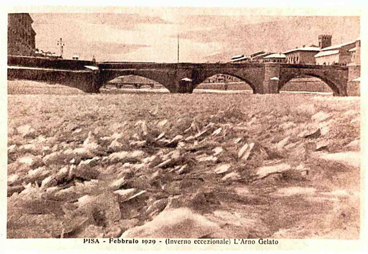 L'Arno ghiacciato nel 1929