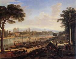 Veduta di Firenze dal Pignone