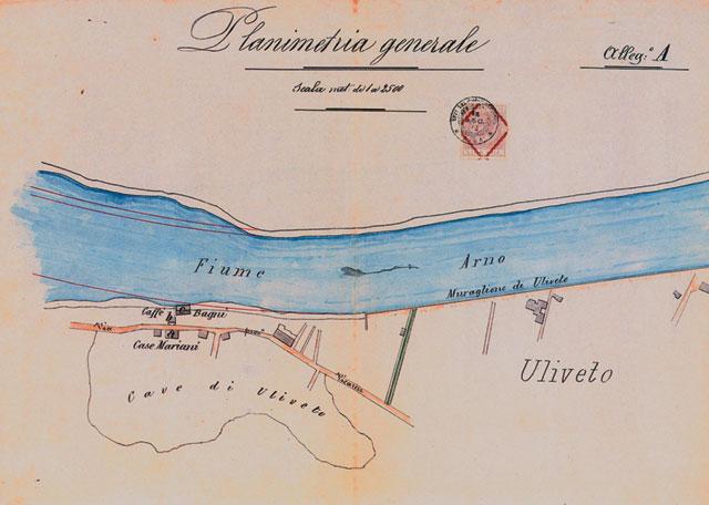 Planimetria generale Bagni a Uliveto