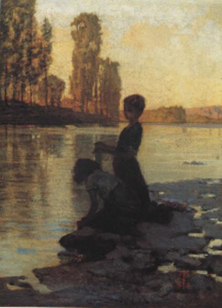 Lavandaie sull'Arno