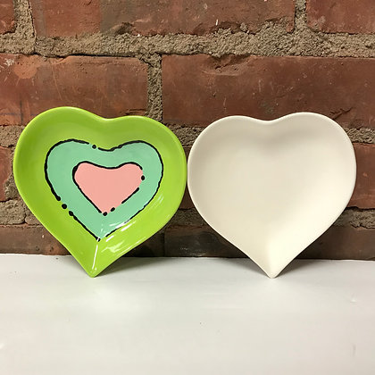"""""""To Go Kit"""" - Small Heart Plate"""