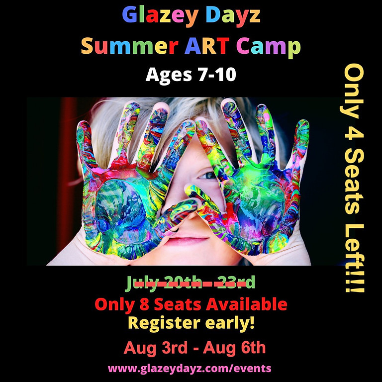Summer Classes Ages 7-10 (4 Sessions Start 8/03)