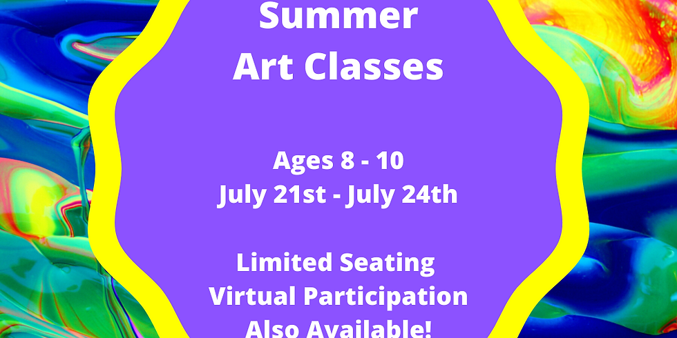 Summer Classes Ages 8-10 (4 Sessions Start 7/21)