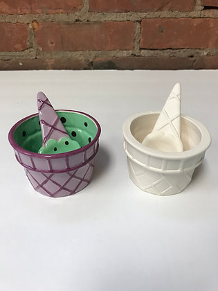 Ice Cream Cup & Spoon
