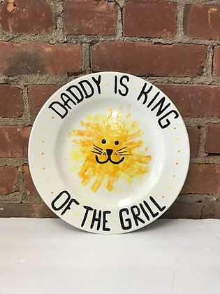 """""""King of the Grill"""" Plate 11.25"""""""