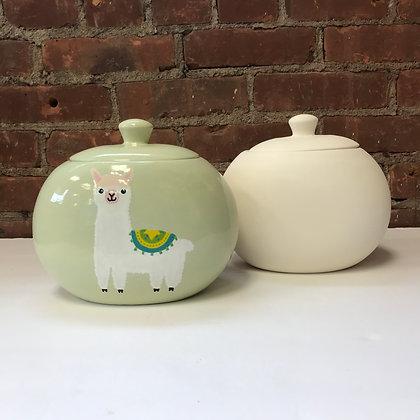 Oval Cookie Jar