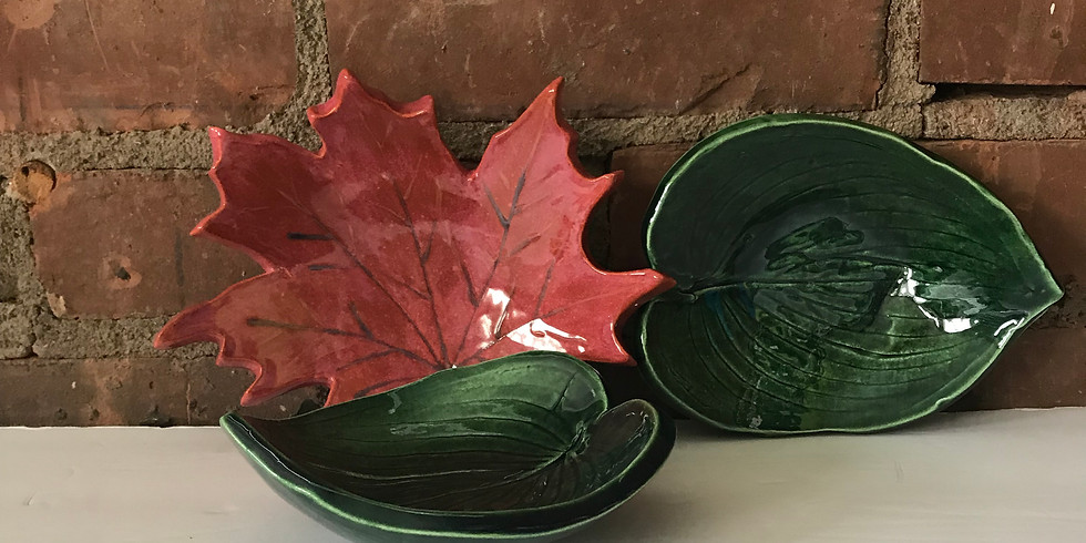Play with Clay - Three (3) Leaf Dishes
