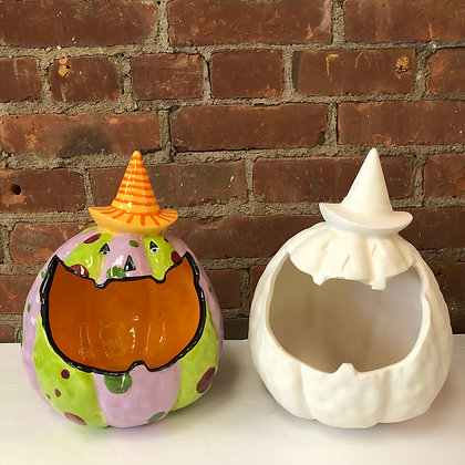 Large Mouth Pumpkin Candy Holder