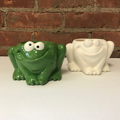 Whimsical Frog Planter